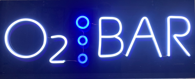 """Neon Sign \""""Oxygen Bar\"""" 110v - Oxygen Bar Manufacturing"""