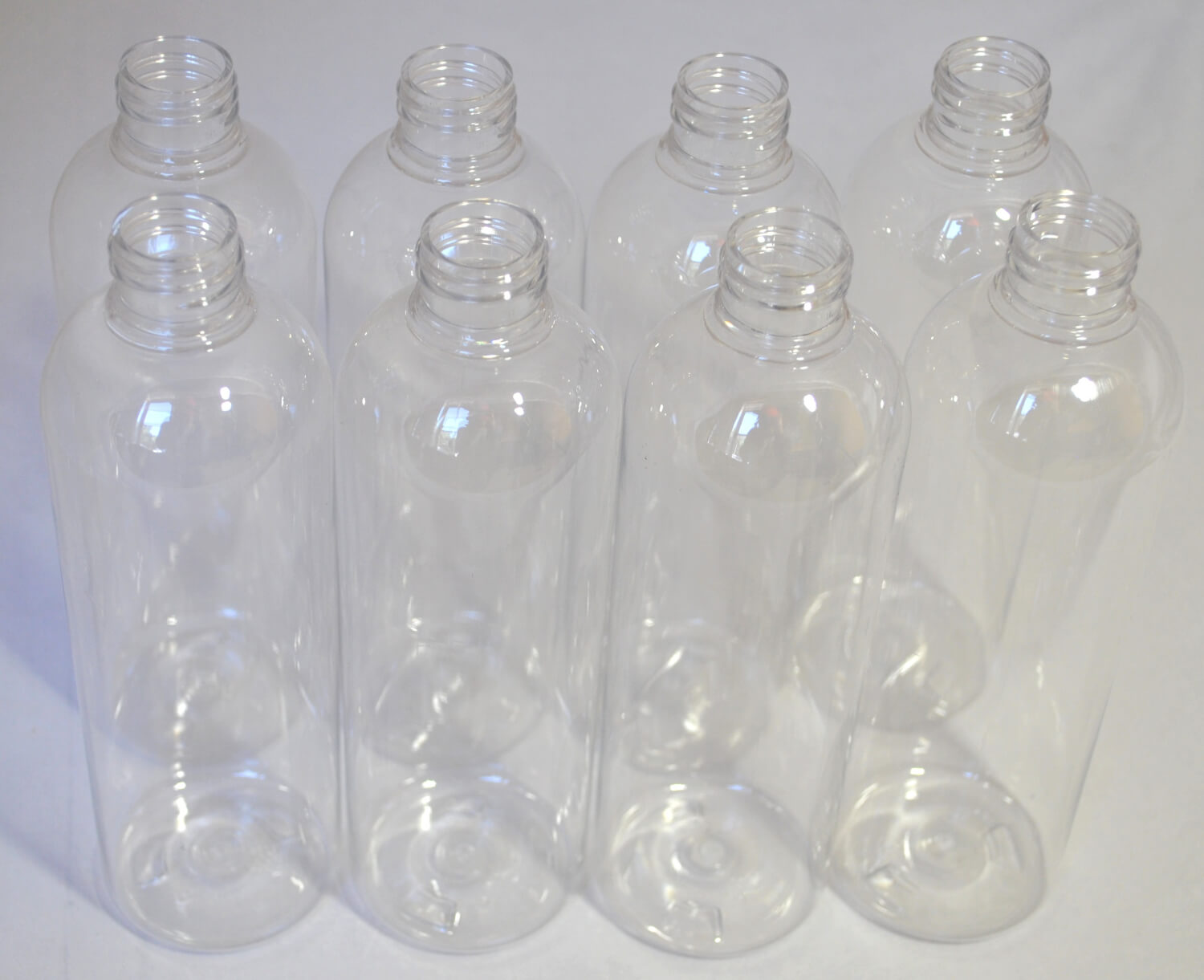 Plastic Bottles with Caps   round top (8)