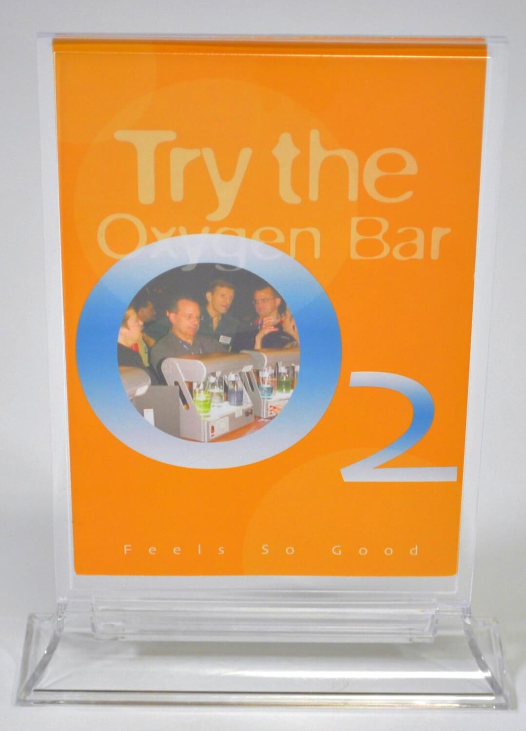 Try the Oxygen Bar Table Top Display