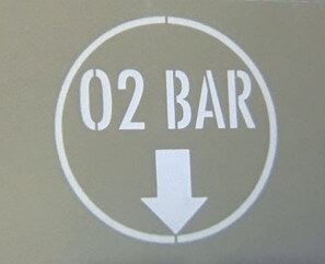 Lighted Sign O2 Bar